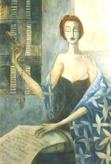 Anais Nin by Modigliani